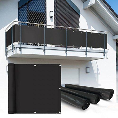 Balkon Sichtschutz 6x0,75 m anthrazit Balkonsichtschutz Balkonverkleidung Sichtschutzmatte Balkonverkleidung Balkonbespannung