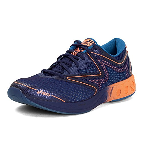 9. ASICS Men's Noosa FF Indigo Blue, Hot Orange and Thunder Blue Running Shoes