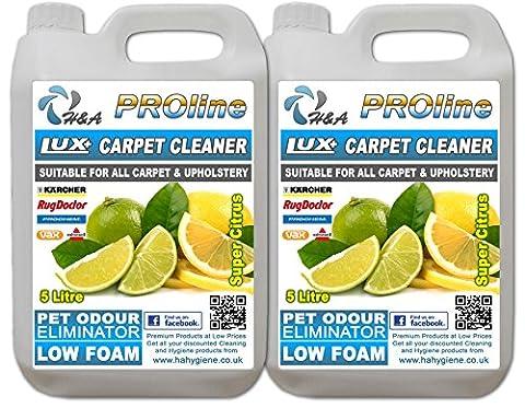 H&A Proline Lux+ Carpet Shampoo Super CITRUS 10 Ltr, Compatible With All Machines