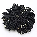 100pcs Elastique Bande Bandeau à Cheveux Caoutchouc Noir 4mm