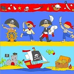 "Cuadro ""Happy pirates looking for treasure"", 120 x 120 cm."