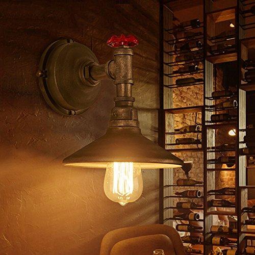 Retro-dampf-bügeleisen (Pumpink American Style Balkon Bügeleisen Wasser Pfeife Bar Punk Dampf Wand Lampe Wand Laterne Europäische Stil Retro Style Wandleuchte Wand Sconce Gang außerhalb der Schlafzimmer Wand Scheinwerfer)