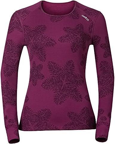 Odlo GOD Jui Crew Neck W T-shirt manches longues S magenta purple