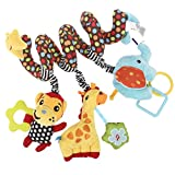 NUOLUX Infant Baby Activity Spiral Bed Stroller Toy Giraffe Educational Plush Toy