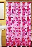 "Fabric Shower Curtain, 70"" x 72"" Kid's and Teen's Bathroom Fun Designs (Beauty)"
