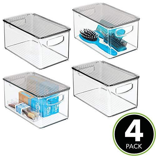 /Trasparente Ideale Anche Come portaoggetti lavandino e Utensili Pratico Porta Sapone in plastica mDesign Set da 2 Porta saponette