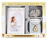 First Holy Communion Gift Set Rosary Beads Chalice Necklace Missal Book Girls