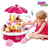 Kids Choice Pretend Toy Ice Cream Sweets Cart With Music Role Play Toys For Boys & Girls