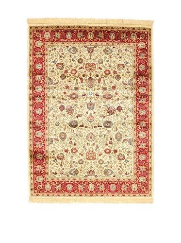 Abc bizantine tappeto, viscosa, beige/rosso, 69x11x11 cm