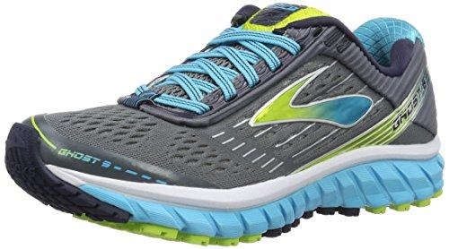 Brooks Ghost 9, Zapatillas de Running para Mujer, Gris (Grau/Blau), 38