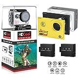 HDCool HC7000 4K Action Fotocamera con Wi-Fi Lenti a 170 Gradi con Super Grandangolo Impermeabile Fotocamera Adatta agli Sport, Schermo LCD 2.0 Pollici con Schermata Anteriore a 0.96 Pollici, 2 Batterie Incluse immagine