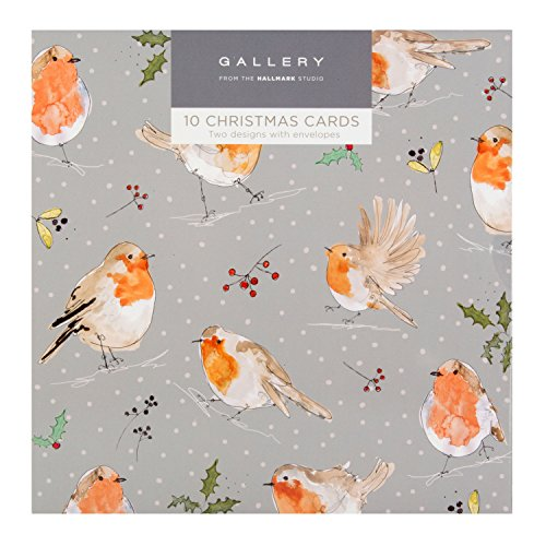 Hallmark Gallery Christmas Card Pack Birds - 10 Cards, 2 Designs