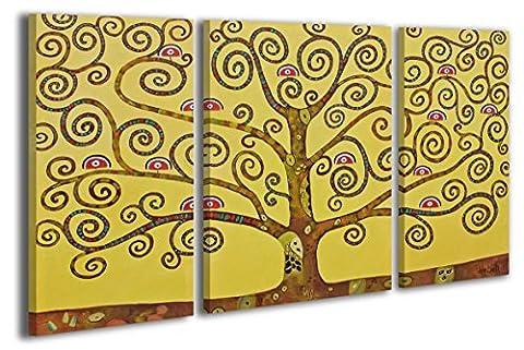 100% TRAVAIL FAIT À LA MAIN + certificat / Le tableau est dessiné par les couleurs acryliques Arbre de paradis / tableaux sur la toile avec sous-cadre en bois naturel / tableau fait à la main / fixation murale pratique / Art contemporain / 120x80
