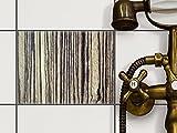 creatisto Dekofolie Fliesen dekorieren | Dekor-Fliesensticker Badezimmerfliesen Badgestaltung | 20x15 cm Design Motiv Schnurstracks - 1 Stück