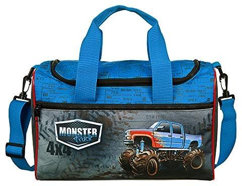 Scooli MTQJ7252 Sporttasche Monster Trucks, ca. 35 x 16 x 24 cm