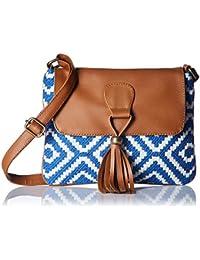 Kanvas Katha Women's Sling Bag (Blue) (KKSNJQ011)