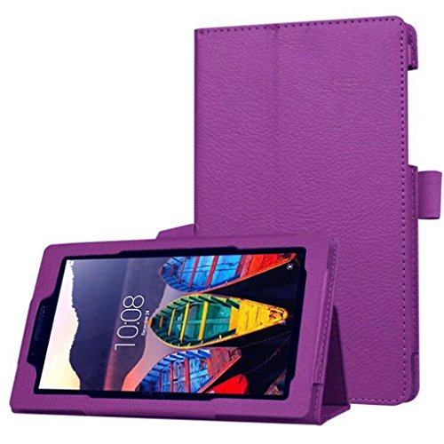 MuSheng(TM) Ultra Slim Flip Floding Leather Case Stand Cover For Lenovo Tab3 7 Essential(710F) (Purple)