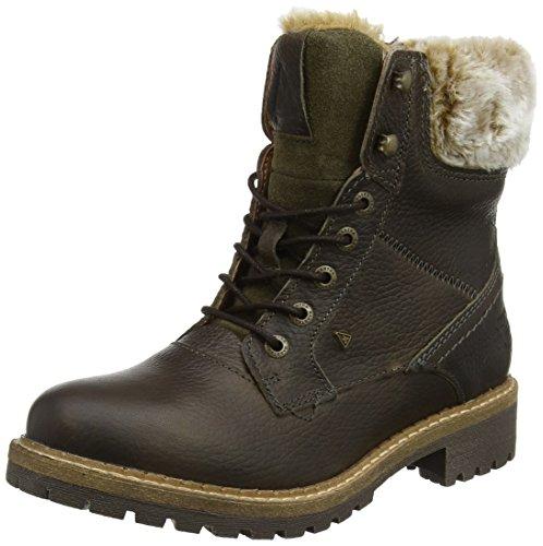Gaastra Damen Lucia High TMB Fur Biker Boots, Beige (Khaki), 41 EU (Lucia Boot)