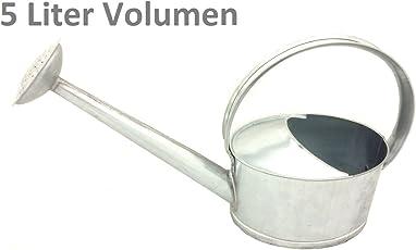 HRB Zinkgießkanne 5 oder 10 L, Gießkanne feuerverzinkt, Metallgießkanne