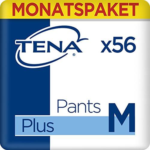 Tena Pants Plus Medium, Monats-Paket mit 56 Pants (4 Packungen je 14 Pants)