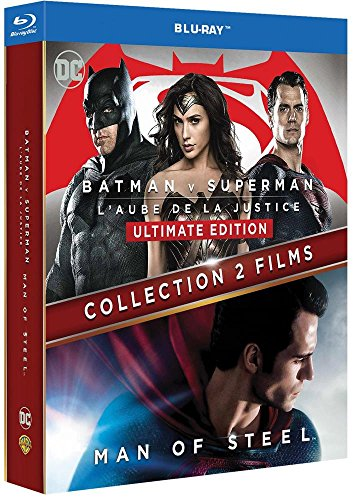 BATMAN VS SUPERMAN/MANF STEEL – Set mit 2 Filmen – BLURAY – DC COMICS