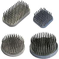 Mehrondo BI401 Kenzan - Set de 4 piezas para arreglos florales (rectangular, 50 x 28 mm, cuadrado, 31 x 31 mm, redondo, 50 mm, 40 mm de diámetro)