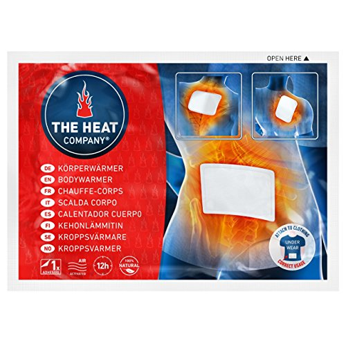 THE HEAT COMPANY Bodywärmer Körperwärmer Rückenwärmer 12 Std. Wärmedauer 10 Stück