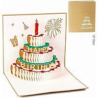 Tarjeta de Cumpleaños 3D Paper Spiritz Felicitación Cumpleaños 3D Pop up Día de San Valentín Tarjetas Cumpleaños Personalizadas Pop up Birthday Card Feliz año Nuevo Tarjeta