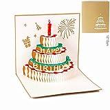 Carta spiritz 3d pop up candela di compleanno torta carta set di 6personalizzato personalizzato stampa artigianale taglio laser cartoline con bianco busta coordinata per lui o lei o il bambino (6PC) Marca: carta spiritz Colore: Peso: 162g ...