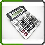 Gavao GA-8003TC Calculatrice parlante (en italien) avec affichage grand format et fonctions horloge réveil et comptabilité