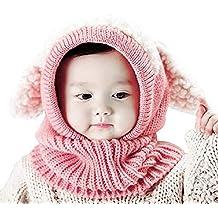01dd21821a35 Bonnet hiver pour Bébé Chapeaux bebe Set de 2 pièces Ensemble Echarpe  Sunroyal Calotte Chapeau Bébé