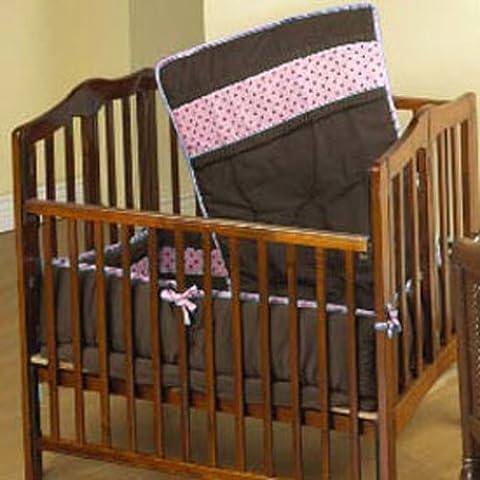 Baby Doll ropa de cama puntos de cacao port-a-crib Set