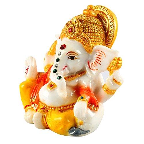 Aica Gifts Lord Ganesha Ganesh Ganpati Car Dashboard Idol Hindu Figurine Showpiece