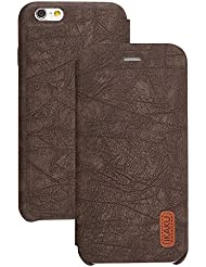 Best New Apple iphone 6 Case cover, Apple iPhone 6 Brown Designer Style Wallet Case Cover