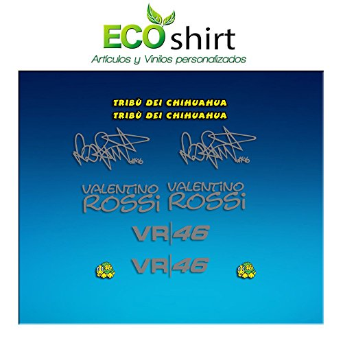 Ecoshirt W4-4DOX-TI0Q Sticker Am1 Tribu Chihuahua Rossi Vr46 Stickers Aufkleber Decals Autocollants Adesivi The Doctor, Silber