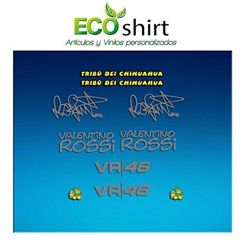 Ecoshirt W4-4DOX-TI0Q Autocollants Autocollants Am1 Tribu Chihuahua Rossi Vr46 Stickers Aufkleber Decals Autocollants The Doctor Argenté