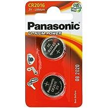 Panasonic CR2016 Batería de monedas Qty x 2 / Lithium 3V / Relojes / Antorchas / Fob de coche / Calculadoras / Cámaras / EJC Avenue
