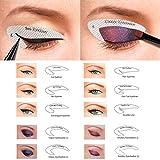 Kalolary Eyeliner Schablone, 64 Paare Eyeliner Template Stickers Smokey Shaper Schatten Zeichnung Leitfaden Vorlage Schönheit Schnell Make-up-Tools