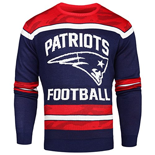 NFL Glow in the Dark Ugly Pullover, unisex, New England Patriots