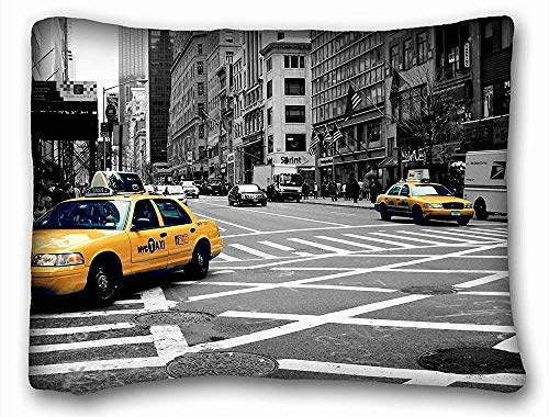 fujianshen Girls Boys Pillowcases Pillows Covers Cases Custom Standard Size Decoration - City Street Taxi Road Images Traffic 20