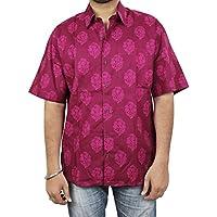 In cotone con stampa floreale hawaiana Beach-Maglietta da uomo, da