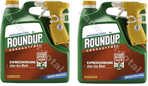 ROUNDUP® AC Unkrautfrei Sprühsystem 6 l - Unkrautvernichter schnell und effektive Wirkung in Beeten oder Gartenwegen