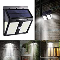 FORNORM 1 Pack Outdoor Solar Light, 148 LED Security Lights with Motion Sensor Solar Powered, IP65 Waterproof LED Wall Light with 3 Light Modes, 120°Wide Sensor Angle