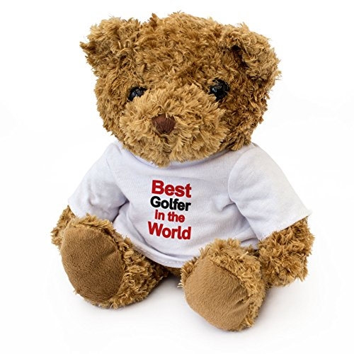 NEW - BEST GOLFER IN THE WORLD - Teddy Bear - Cute Soft Cuddly - Award Gift Present Birthday Xmas