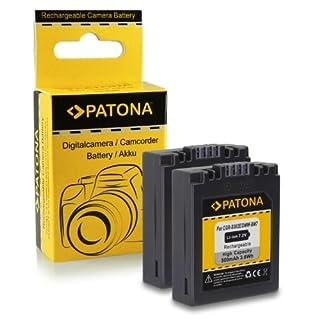 Premium Qualität - 2x Akku wie Panasonic CGA-S002 / CGR-S002 / DMW-BM7 mit Infochip · 100% kompatibel mit Panasonic Lumix DMC-FZ1 | DMC-FZ2 | DMC-FZ3 | DMC-FZ4 | DMC-FZ5 | DMC-FZ10 | DMC-FZ15 | DMC-FZ20