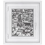 Fensterdeko - Hochwertiges Fenster-Bild | selbsthaftende Glasdekorfolie für Fenstergestaltung in Bad, Küche, Wohnzimmer und Schlafzimmer | Einfach anzubringen | Fensterfolie 40 x 50 cm - Miniature