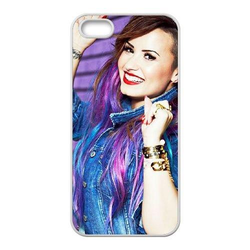 Demi Lovato coque iPhone 5 5S Housse Blanc téléphone portable couverture de cas coque EBDXJKNBO10792