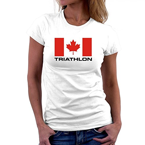 Teeburon Flag Canada Triathlon Damen T-Shirt