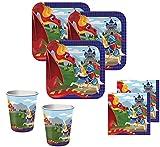 34 Teile Ritter und Drachen Party Set für 8 Kinder
