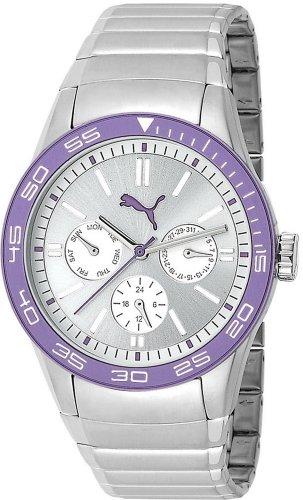 Puma Time Fast Track Metal Silver PU102822006 - Reloj para hombres, correa de acero inoxidable color plateado